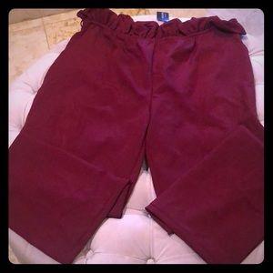 Fashion Nova Burgandy - Waist Tie Pants 2X